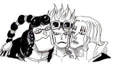 One Piece, Scratchmen Apoo, Kid, Hawkins