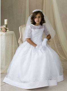 communion dress with detachable skirt - Google Search - lexis 1st ...