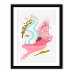 Limited edition by Gosia Poraj. This beautiful Giclée print is a celebration of inner freedom. The original painting was created using vibrant, optimistic colours, and was later reproduced as a limited edition print.