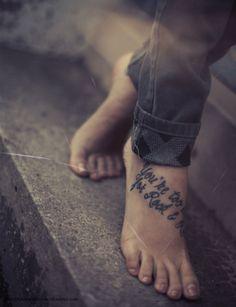 i love foot tattoos.