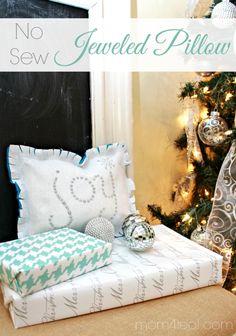 No Sew Jeweled Pillow