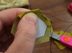 Hexagon tutorial.  Good hand sewing therapy.
