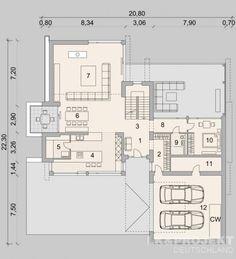 Hausprojekt: LK&1474 - ExklusivHAUS-Projekt: Leben auf höchstem Niveau Small House Layout, House Layouts, Apartment Layout, Apartment Plans, Small Floor Plans, House Floor Plans, Villa Plan, 2 Storey House Design, House Design Pictures