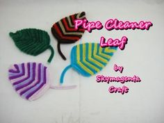 Hello there! Here's a tutorial on how to make a leaf using pipe cleaner. Hope you will enjoy watching this videos Please subscribe for more updates and tutor... Leaf Crafts, Flower Crafts, Fun Crafts, Crafts For Kids, Pipe Cleaner Flowers, Pipe Cleaner Crafts, Pipe Cleaners, Halloween Pumpkins, Halloween Crafts