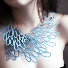 Air Tattoo : Wearable Art for your Neck / A new body decoration concept. Delicate hand-drawn patterns transformed into a paper jewellery collection. Wear Art in your daily life!