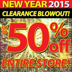 #NewYear 2015 #Clearance Blowout going on now at Gems N' Loans! Up to 50% off the entire store.
