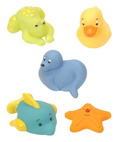 Take a look at this Mini Bath Buddies Set by Battat on #zulily today! $9 !!