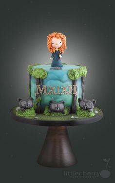 Little Cherry Cake Company - Brave Merida Birthday Cake Girly Cakes, Fancy Cakes, Cute Cakes, Brave Birthday Cakes, Birthday Cake Disney, 4th Birthday, Merida Cake, Fondant Cakes, Cupcake Cakes