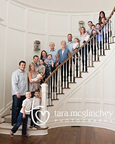 LOVE the color scheme of this family photo shoot: white, gray and soft shades of blue, gorgeous! I need to try to have this done with our family if I can ever get everyone in the same state/city at once lol
