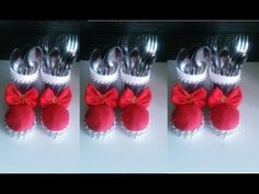 GARRAFA PET PORTA TALHER NATALINO - YouTube Christmas 2019, Christmas Crafts, Xmas, Christmas Ornaments, Christmas Tablescapes, Christmas Decorations, Holidays And Events, Shot Glass, Recycling