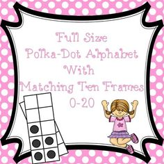 Polka-Dot Alphabet with Vowels and Matching Ten Frames 0-20 from Literacy by Lulu on TeachersNotebook.com -  (76 pages)  - alphabet with vowels, 10 frames 0-20 polka-dot