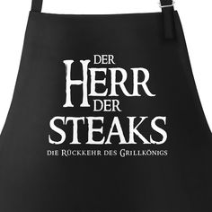 BBQ apron for men with saying the lord of the steaks the return of the gri . Bbq Apron, Aprons For Men, Feeling Happy, Steaks, Pick One, Inner Peace, Sayings, Funny, Diys