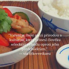 Vaření je most mezi přírodou a kultúrou, který přinesl člověku seleckční výhodu oprotu jeho předchůdcům. #asiechutna