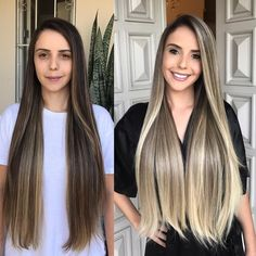 Here's Every Last Bit of Balayage Blonde Hair Color Inspiration You Need. balayage is a freehand painting technique, usually focusing on the top layer of hair, resulting in a more natural and dimensional approach to highlighting. Brown Blonde Hair, Dark Hair, Cabelo Ombre Hair, Brunette Color, Hair Painting, Hair Transformation, Blonde Balayage, Brown Balayage, Hair Highlights