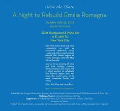 A Night to Rebuild Emilia Romagna @ New York City #NYC #EmiliaRomagna