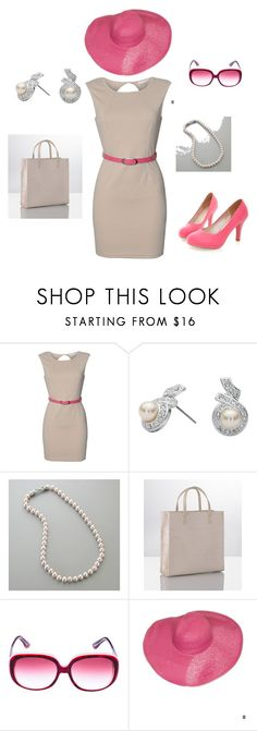 """""""Summer/Spring Work Outfit"""" by acollins518 ❤ liked on Polyvore featuring Rare London, Jon Richard, Harrods, Miu Miu and American Apparel"""
