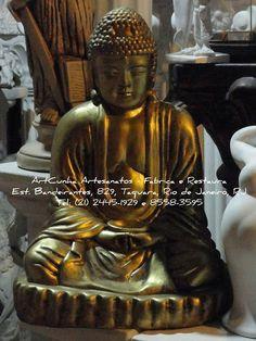 BUDA / BUDDHA 47 cm Estátuas diversas. Vários modelos e tamanhos. Com ou sem pintura. ArtCunha Imagens - Fabrica, Restaura e Modifica. Est. Bandeirantes, 829, Rio de Janeiro, RJ. Tel:(21)2445-1929 / 98558-3595. #Buda #Budismo #Buddha #Artesanato #Gesso #ArtCunha #Arte #Artes #Decoracao #estatua #Escultura #Estatuas #Esculturas
