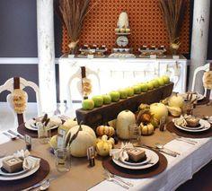 Thanksgiving Decor: White Pumpkins