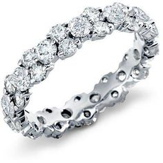 This is absolutely gorgeous! I want one... Garland Diamond Eternity Ring in Platinum (2.5 ct. tw.)