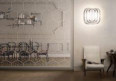 Orijinal tasarım duvar lambası / cam / metal / halojen - MANDALA ...