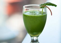 Two Healthy Smoothie Recipes to Start Your Morning Right I  These recipes are dairy free and use only fruits, vegetables and herbs. #Quickand EasyRecipes