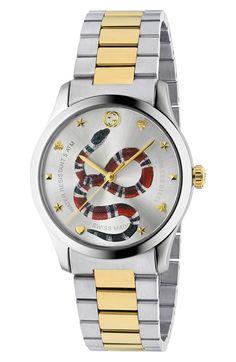 bce226bda49 Free shipping and returns on Gucci G-Timeless Bracelet Watch