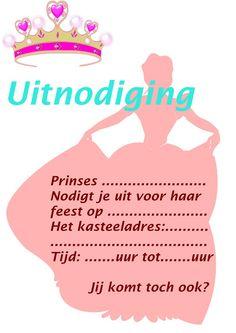 De prinses nodigt je uit voor haar kinderfeestje :-) zo lief Birthday Treats, Girl Birthday, Girls Party, Butterfly Kisses, Insta Posts, Little Miss, Party Time, Buffet, Frozen