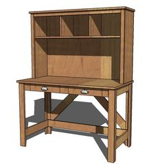 Ana White | Build a Brookstone Desk Hutch | Free and Easy DIY Project and Furniture Plans
