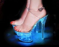 Wish | Sexy Light up High Heel Sexy LED Platform High Heel Luminous Ankle Strap Sandals