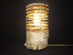 Tischlampe aus Naturbirkenstamm 2 von Scandinavicwoodworks auf Etsy