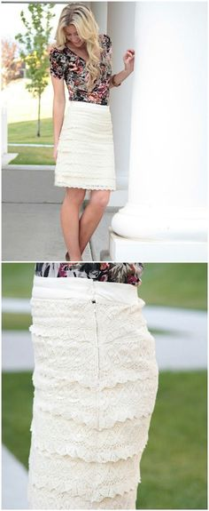 DIY Lace for Days Skirt Step by Step Instructions