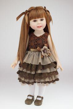 18 polegada artesanal cheio vinil boneca american girl moda reborn baby toys chilldren presente de aniversário dia dos namorados bonecas loira