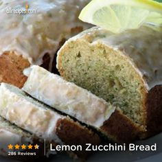 April 25-Zucchini Bread Day | Lemon Zucchini Bread