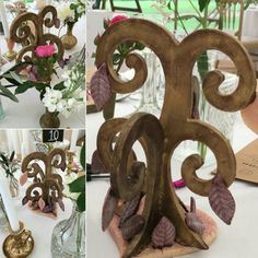 Cocoa tree made from white, milk, and dark, chocolate, edible table decorations