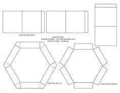 hexagon explosion box template - Pesquisa do Google