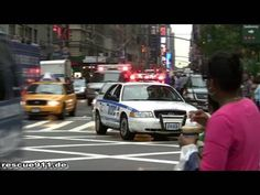 Police car NYPD + Ambulance 443 FDNY