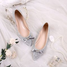 Today Only! Pointed Toe Block Heel Bow Slip-On Low-Cut Upper Thin Shoes #shoes #fashions Pointed Toe Block Heel, Block Heels, Shoe Sale, Slip On, Bows, Fashion, Arches, Moda