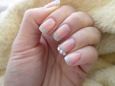 Not a fan of the rhinestones, but I like the glitter french!