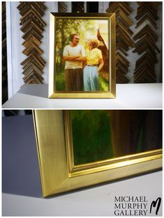 Absolutely flawless 24kt gold handmade frame! #FramingFriday #MMGallery