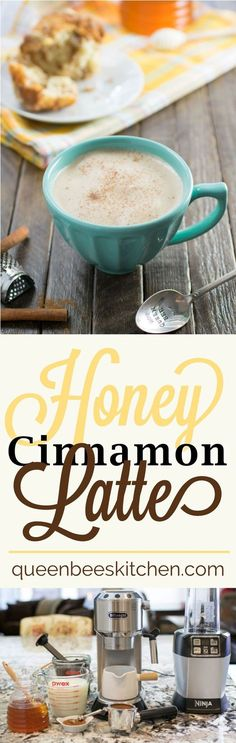 This easy to make Honey Cinnamon Latte is a creamy and satisfying way to get your caffeine jolt for the day. Cinnamon, honey and espresso - Delicious!