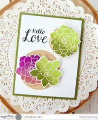 Succulents are very trendy! Stamp and die cut succulent shapes for handmade cards!
