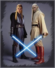 Being a huge fan of Tolkien and Star Wars this Sith/Jedi photo hit the mark.