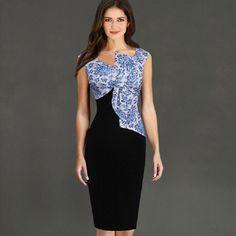 c93b367f8f Aliexpress.com   Buy Plus Size Summer Dress Fashion Deep V Neck Sleeveless  Slim Was Thin Big Bow Floral Flower Print Womens Knee Length Sheath Dress  from ...