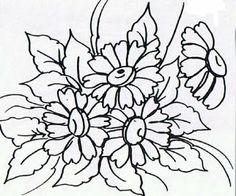 Pintura Em Tecido - Venha Aprender Pintura em Tecido: Flores !!! Riscos