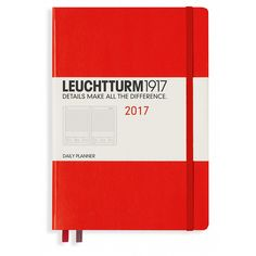 Leuchtturm1917 2017 Daily Planner One Page Per Day Red