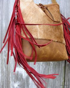 The Rustic Victorian Leather and Velvet Cross Body by stacyleigh