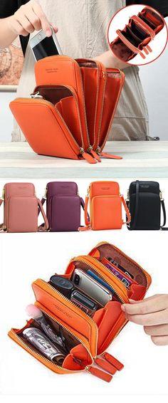 Multi-Pocket Crossbody Phone Bag Woman Shoes average shoe size for 5 5 woman Fashion Bags, Fashion Accessories, Bag Sewing, Sacs Design, Diy Sac, Bag Women, Orange Bag, Casual Bags, Diy Bags