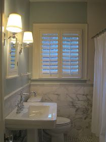 The home improvements just keep on coming.   Finally, we have Plantation Shutters in our bathrooms.  They were ordered back before Christmas...