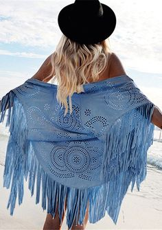 Artemis Boho chic Kimono Design Faux Suede Shawl laser cut out Floral Asymmetric Tassel Kimono Beach Summer Style Cover-up Bali * AliExpress Affiliate's Pin. Find similar products by clicking the image Capes, Boho Fashion, Womens Fashion, Fashion Trends, Style Fashion, Fashion Scarves, Fashion 2016, Teen Fashion, Boho Chic