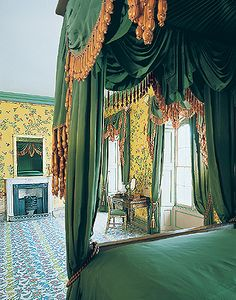 Queen Victoria's Apartments, Bedroom  Queen Victoria's Bedroom as it looks today. The room has been restored to its appearance in the early 1840s.